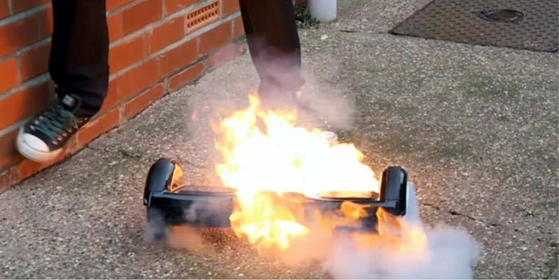 гироскутер горит, горящий гироскутер, giroskuter fire