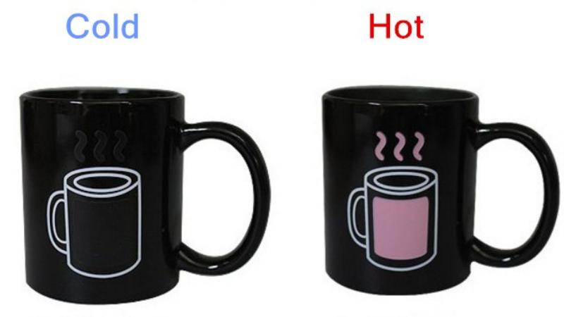 Кружка которая меняет цвет от температуры
