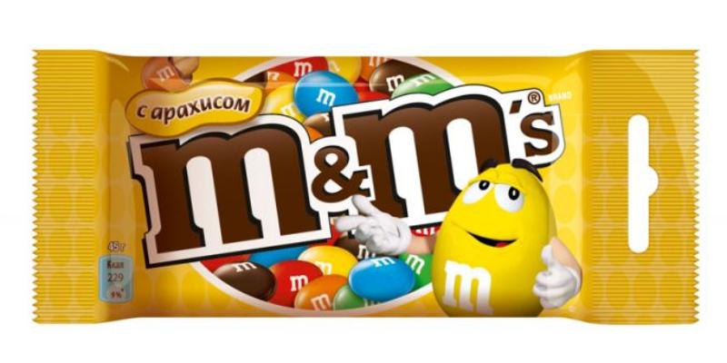 амперсанд, M&Ms конфеты