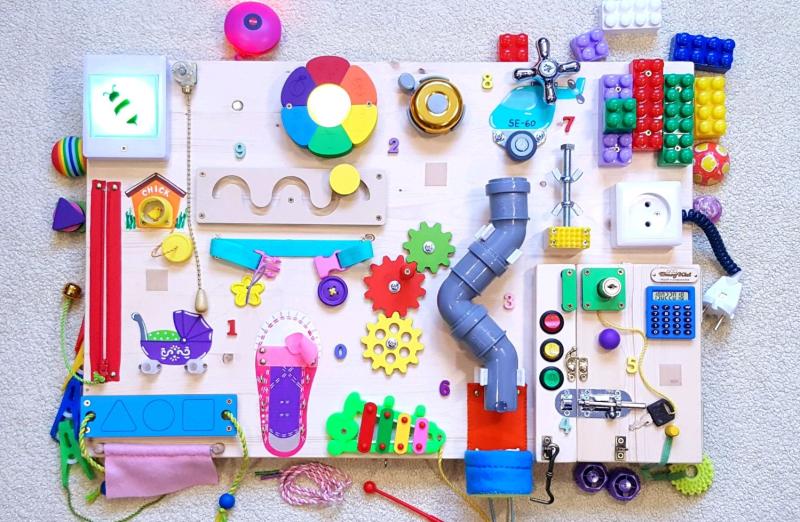 Бизиборд, развивающая доска для детей, busy board