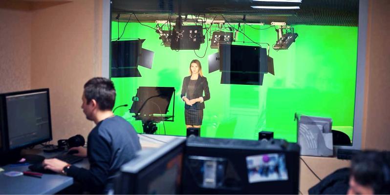 как называется зеленый фон для съемок видео - хромакей