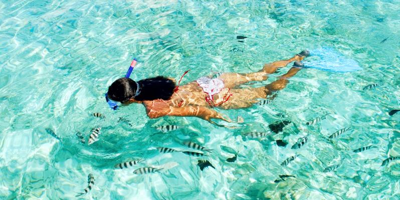 Как называется плавать с маской и трубкой , сноркелинг