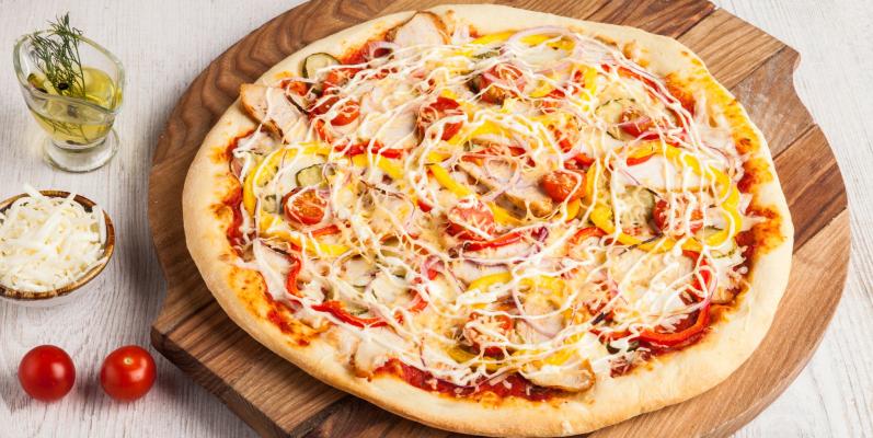 Как называется пицца с куриной начинкой - поло пицца