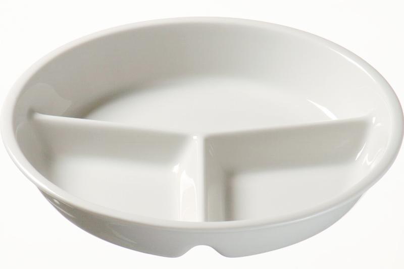Менажница тарелка, тарелка с 3 сециями